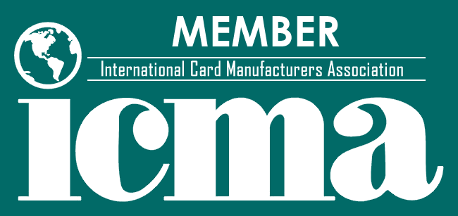 Member of ICMA, the  International Card Manufacturers Association