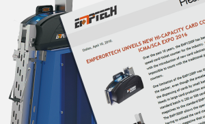 EmperorTech unveils New Hi-Capacity Card Counter at ICMA EXPO 2016