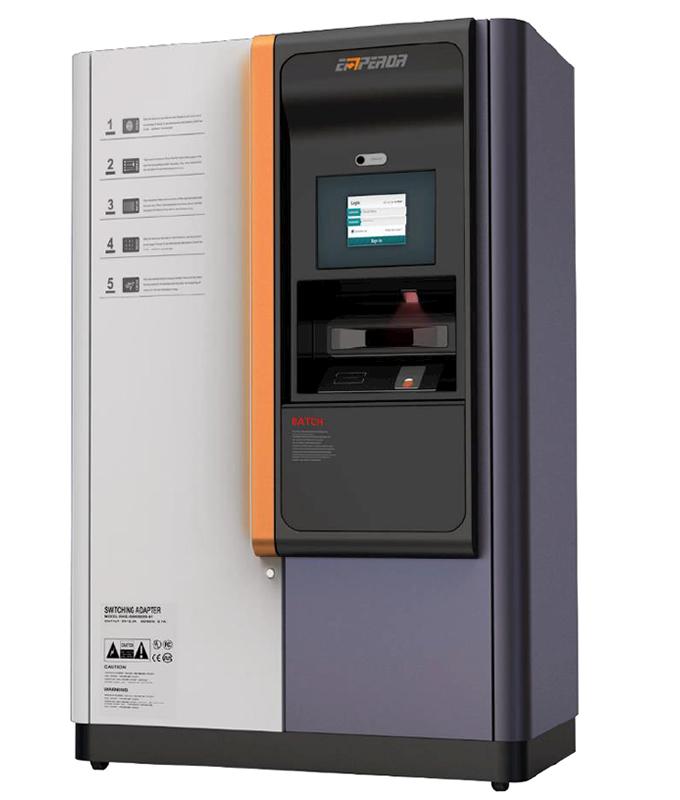 elf service kosk id card dispensing machine